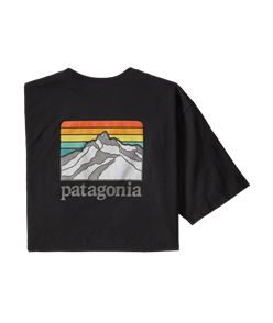 Patagonia Line Logo Ridge Pocket Responsibili-Tee, Black