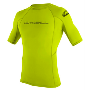Oneill Basic Skins Short Sleeve Crew, Lime 187