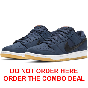 Nike SB DUNK LOW PRO ISO MENS SHOE, MIDNIGHT NAVY/BLACK-MIDNIGHT NAVY