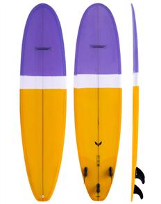Modern Blackbird Longboard, Lavendar Orange Tint