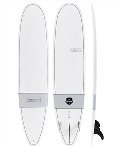 Modern The Boss X1 Tech Classic Longboard, White Grey