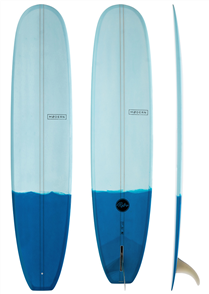 Modern Retro PU Two Tone Longboard, Blue