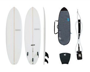 Modern Highline PU Clear Combo, with Panel Grip, 6'0 Pro Leash, Fish Lite Bag