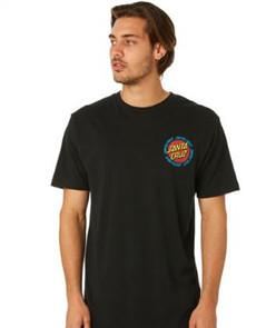 Santa Cruz Ringed Dot Tee, Black