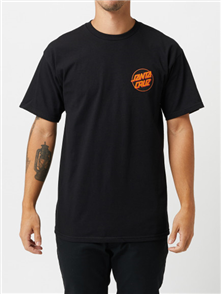 Santa Cruz Vacation Hand Tee, Black