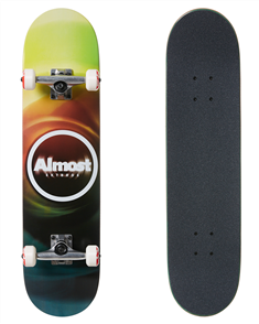 "Almost Blur Resin Complete Skateboard, Multi 7.75"""