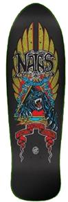 Santa Cruz Natas Panther Metallic Reissue Skate Deck, Size 10.538