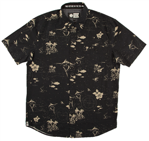 Salty Crew Navigator Short Sleeve Shirt, Gold