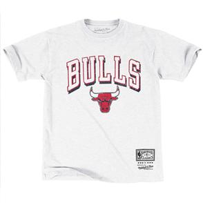 NBA VINTAGE KEYLINE LOGO TEE, CHICAGO BULLS VINTAGE WHITE