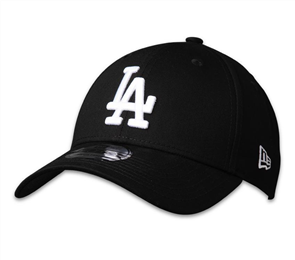 New Era 9FORTY Los Angeles Dodgers Cap, Black/White