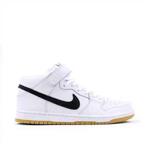 Nike Sb Dunk Mid Pro Iso Shoes, 100, White Black