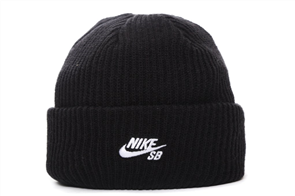 Nike SB FISHERMAN BEANIE, BLACK/WHITE