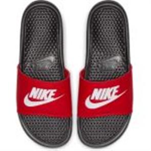 "Nike Benassi ""Just Do It."" Sandal, BLACK/WHITE-UNIVERSITY RED"