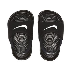 Nike KAWA SLIDE (TD) TODDLER SHOE, BLACK/WHITE