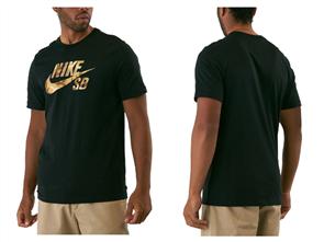 Nike Mens Sb Tee Logo Snsl 2 Tee, 010, Black