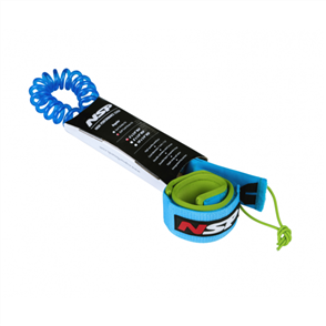 NSP 06 SUP Coil Leash Double Swivel 10ft 7mm