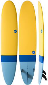 NSP 2017 06 Elements HDT Long Surfboard, Tail Dip blue