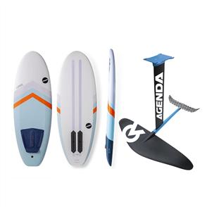 NSP 5'2 PRONE SURF BOARD + AGENDA FOIL COMBO