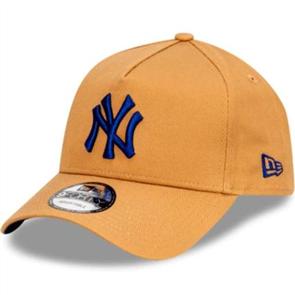 NewEra NEW YORK YANKEES 9FORTY A-FRAME CAP, WHEAT/DARK ROYAL