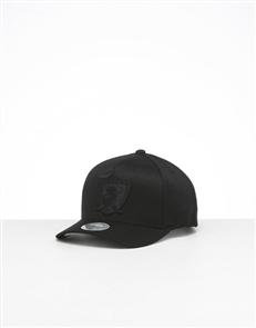 Mitchell Ness OAKLAND RAIDERS ALL BLACK 110 Snapback Cap, RAIDERS