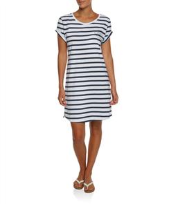 Oneill Tubes Dress, Navy Stripe