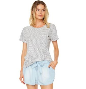 Oneill Pacific Ss Tee, White Stripe