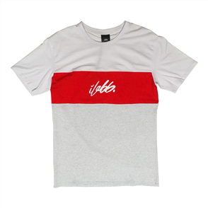 iLabb ORDER SHORT SLEEVE TEE, WT/GRY/RED