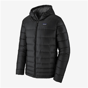 Patagonia Mens Hi-Loft Down Hooded Jacket, Black