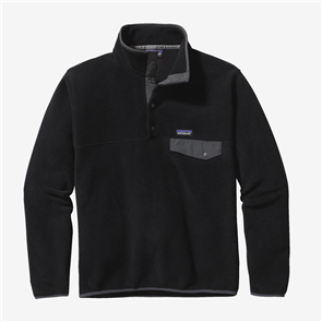 Patagonia Mens LW Synch Snap Fleece, Black