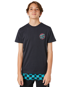 Santa Cruz Check Waste Dot Youth Tee, Phantom