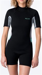 Peak Ladies Energy Short Sleeve Spring Suit, 0090 Black