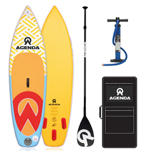 Agenda Prodigy SS Youth iSup 8'6 Combo with Youth Adj Paddle and 10ft Leash