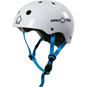 Protec Junior Kids Classic Fit (Certified) Helmet, Gloss White