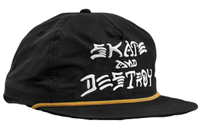 Thrasher Skate & Destroy Puff Ink Snapback, Black