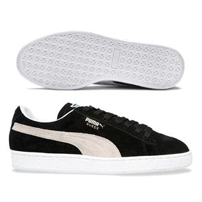 PUMA Mens Suede Classic+ Shoe, Black