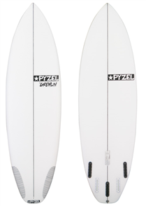 Pyzel Gremlin Surfboard with 5 Future Fins