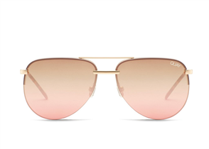 Quay Eyewear The Playa, Gold/Brown Pink Fade