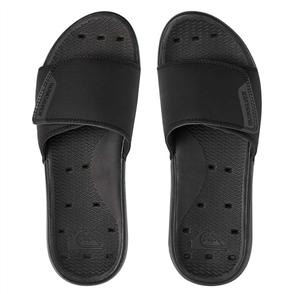 Quiksilver Mens Amphibian Sandal, Black Black Grey