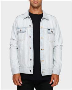 RVCA Distressed Denim Jacket, Bleachout