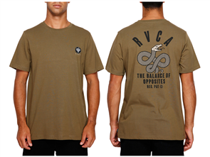 RVCA Serpent Short Sleeve Tee, Cadet Green