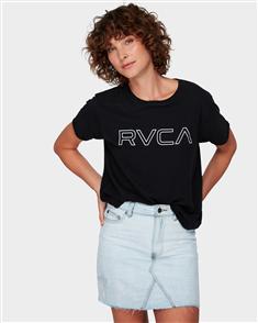 RVCA Keyline Rvca Box Tee, Black