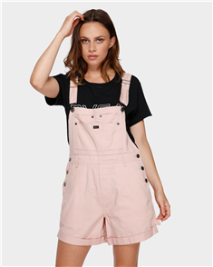 RVCA Sloucher Overall Dress, Rose Blush