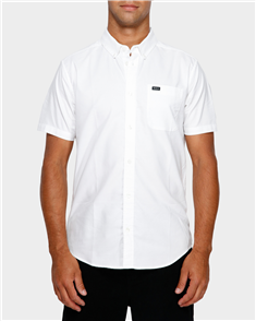 RVCA Thatll Do Stretch Short Sleeve Shirt, White