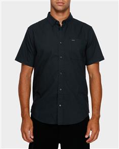 RVCA Thatll Do Stretch Short Sleeve Shirt, Black