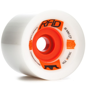 Sector 9 Longboards Rad 74Mm Wheels 77A (61Mm Contact Patch), White