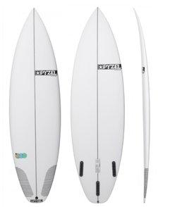 Pyzel Radius Performance Surfboard with Futures  Quad Fins
