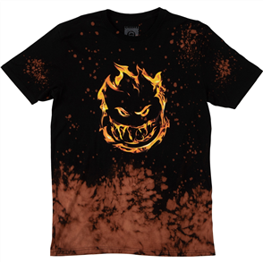 Spitfire 451 SHORT SLEEVE TEE, BLK/ACID SPLATTER