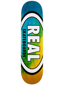 Real Angle Dip Oval Deck, Blue/Yellow
