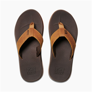 Reef Leather Fanning Low Mens Jandal, Brown