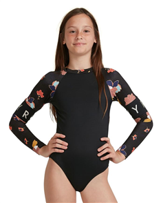 Roxy RIDING TIME UPF50 TEEN ONESIE, Anthracite New Town